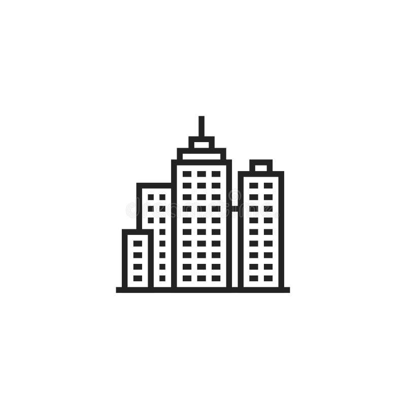 城市Oultine传染媒介象、标志或者商标 向量例证