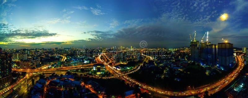 城市scape全景照片鸟瞰图  图库摄影