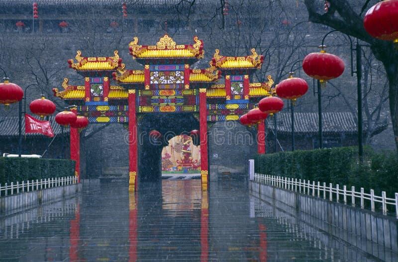 城市torii墙壁XI县 免版税库存照片