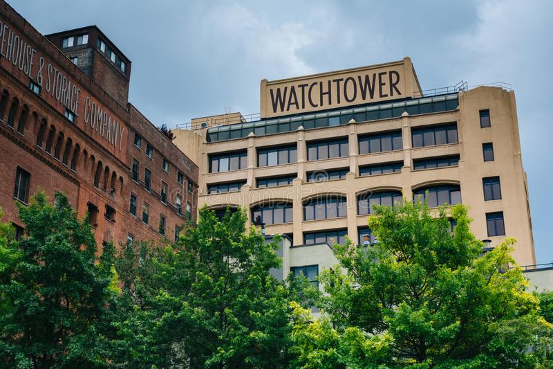 城楼,在DUMBO,布鲁克林,纽约 免版税库存照片