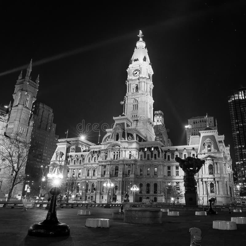 费城的地标历史的香港大会堂大厦 库存图片