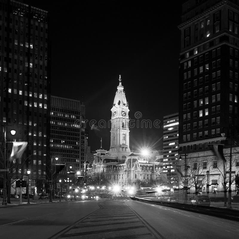 费城的地标历史的香港大会堂大厦 免版税库存照片