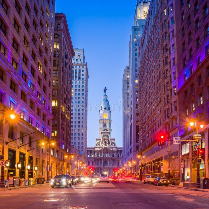 费城的地标历史的香港大会堂大厦 图库摄影