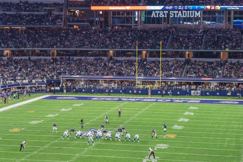 费城老鹰对 在AT&T体育场的达拉斯牛仔 免版税库存照片