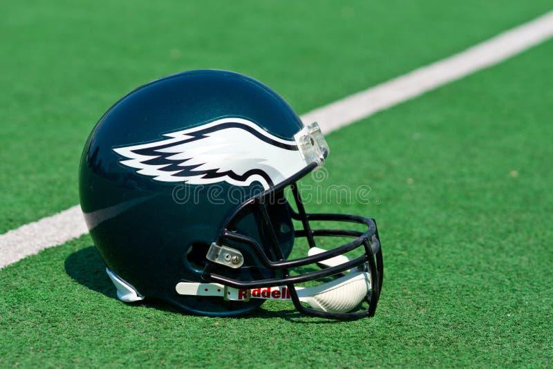 费城老鹰美国橄榄球联盟盔甲 免版税库存照片