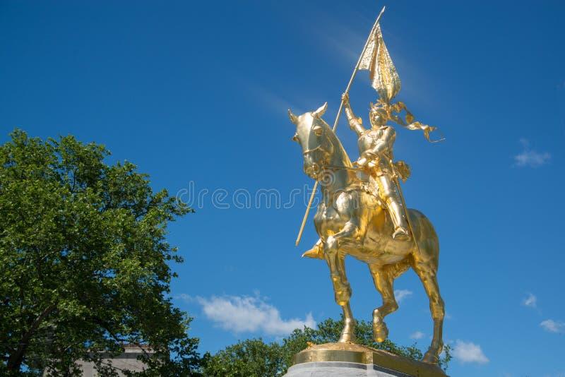 费城艺术馆的圣贞德 库存图片