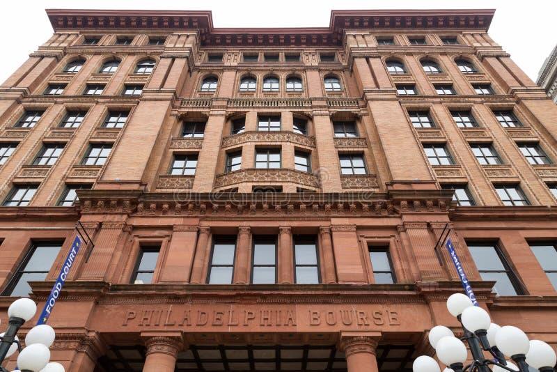 费城证券交易所大厦 免版税库存照片