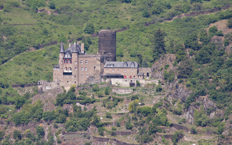 城镇中世纪城堡的katz 库存照片
