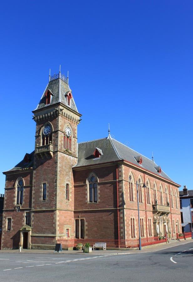 城镇厅、Wigtown、邓弗里斯&盖洛韦,苏格兰 图库摄影