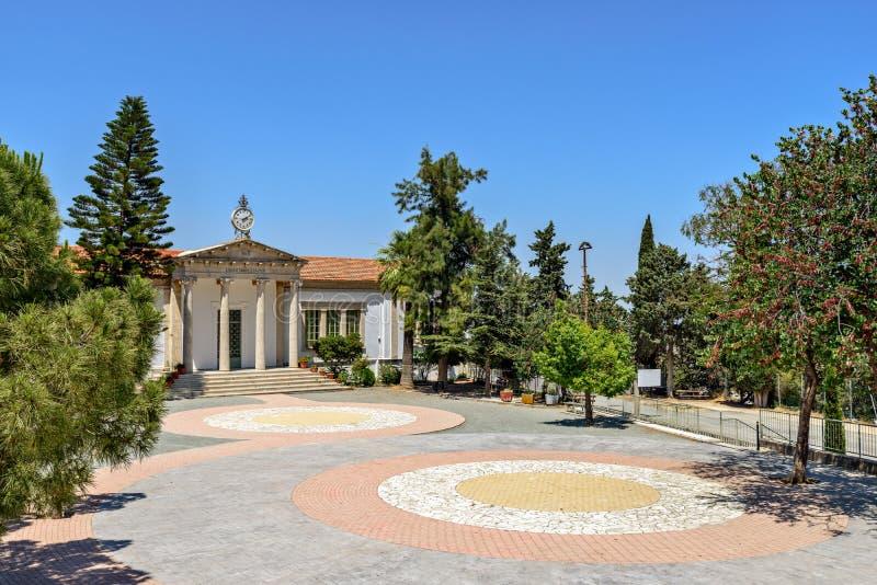 城镇厅在塞浦路斯的村庄 库存照片