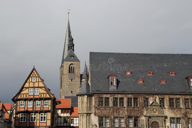 城镇厅在奎德林堡 免版税图库摄影