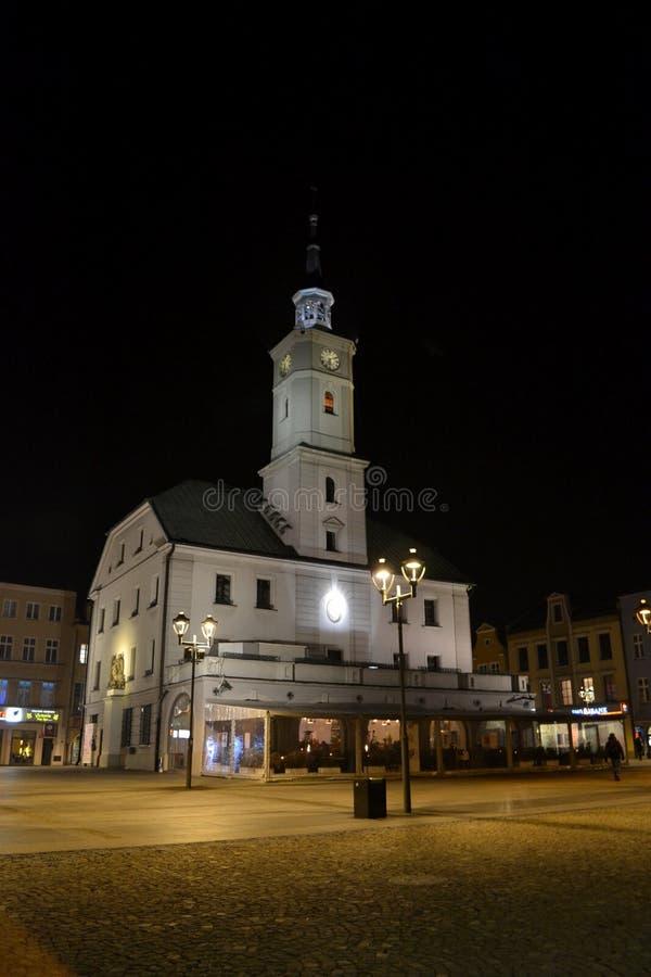 城镇厅在格利维采,波兰 免版税库存图片