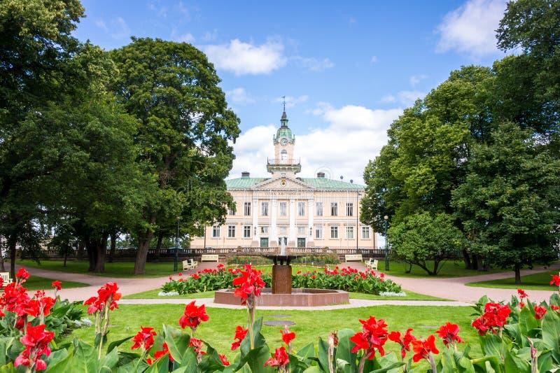 城镇厅在波里,芬兰 免版税库存照片