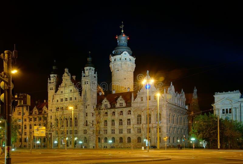 城镇厅在莱比锡 免版税库存照片
