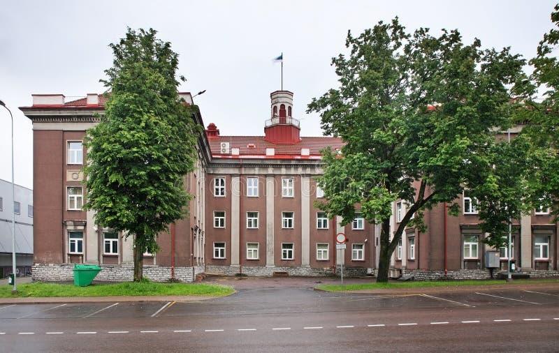 城镇厅在Johvi 爱沙尼亚 免版税库存图片