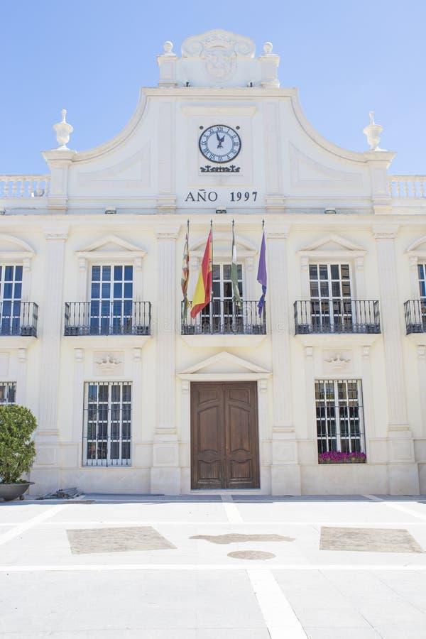 城镇厅大厦,卡夫拉,西班牙 库存照片