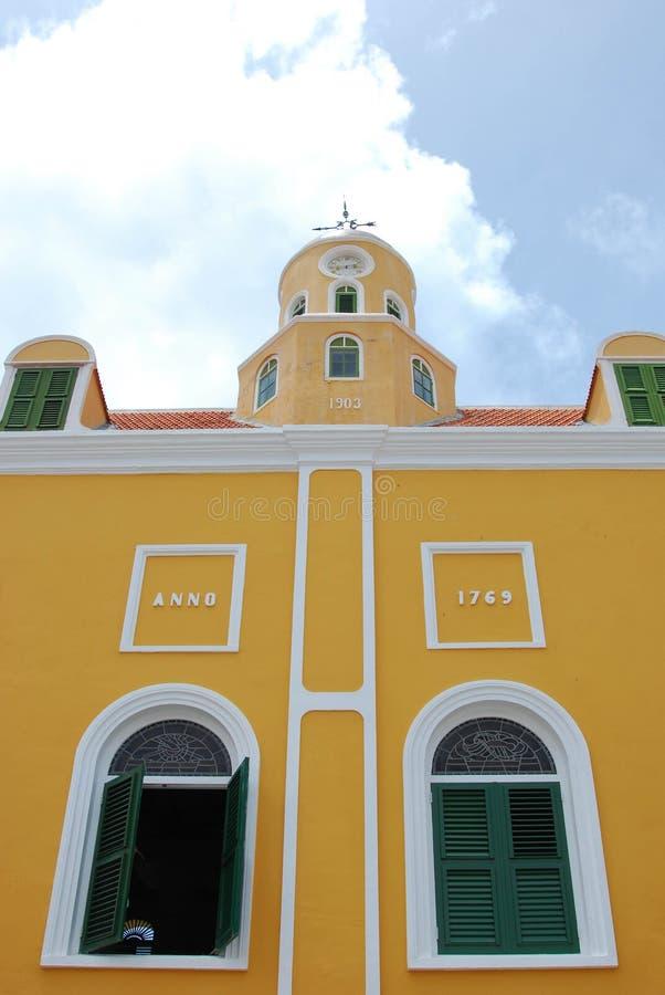 城镇厅威廉斯塔德库拉索岛 免版税库存图片