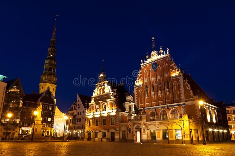 城镇厅广场,里加,拉脱维亚 免版税图库摄影