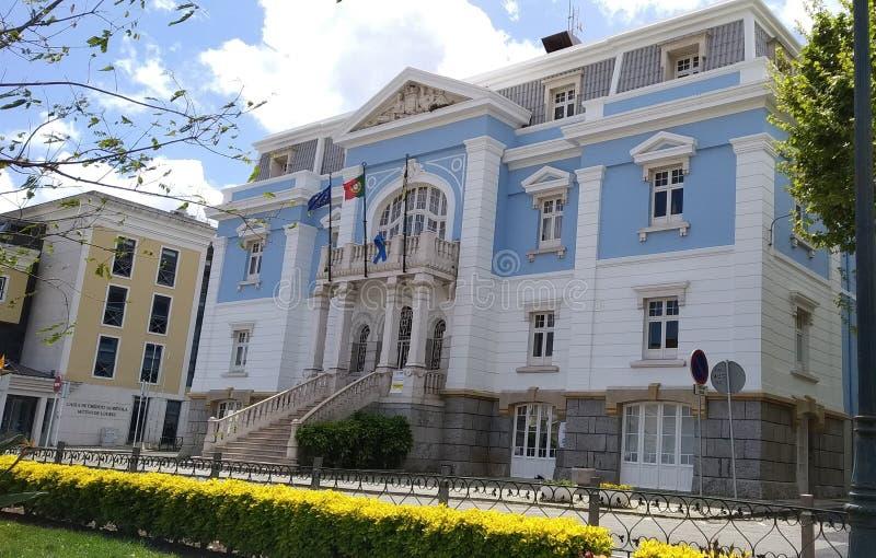城镇厅洛雷斯,葡萄牙 免版税图库摄影
