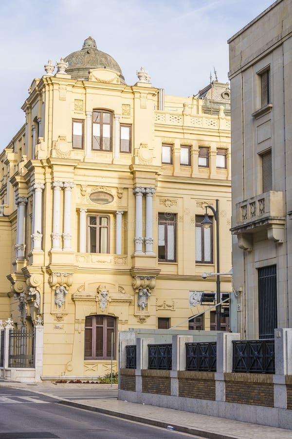 城镇厅马拉加,西班牙 免版税库存照片