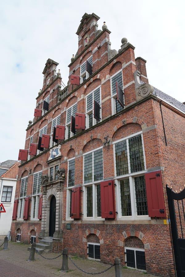 城镇厅,沃尔伯格荷兰 库存图片