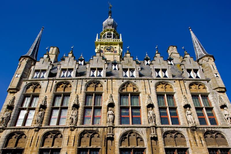 城镇厅,费勒,西兰省,荷兰 免版税库存图片