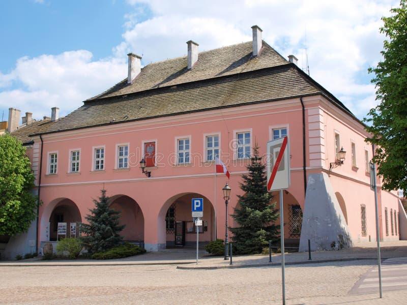 城镇厅, Opatow,波兰 免版税库存图片