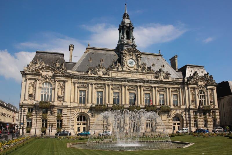 城镇厅 浏览 法国 库存照片