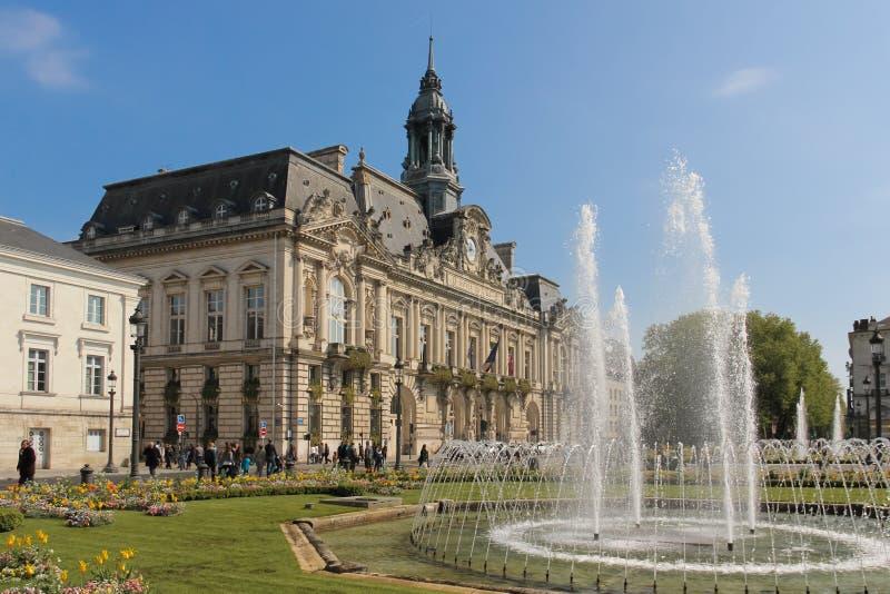 城镇厅 浏览 法国 免版税库存图片