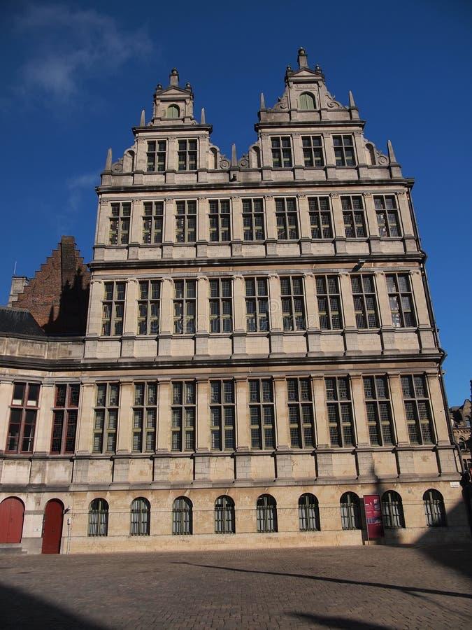 城镇厅(跟特,比利时) 图库摄影