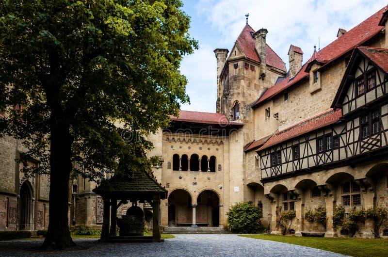 城镇Kreuzenstein城堡 库存照片