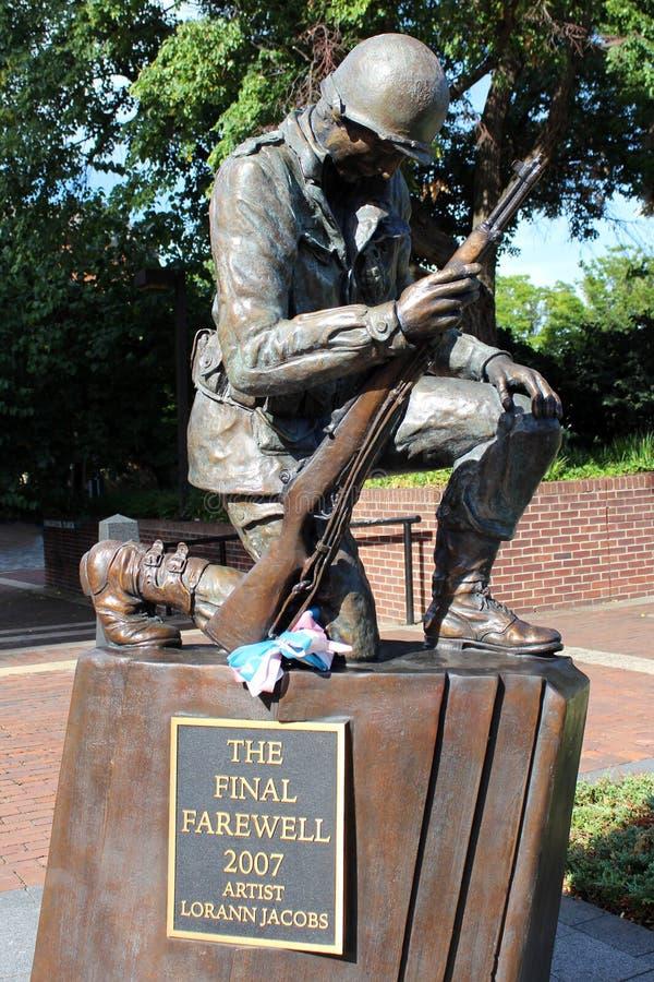 费城韩战纪念战士雕象 免版税库存图片
