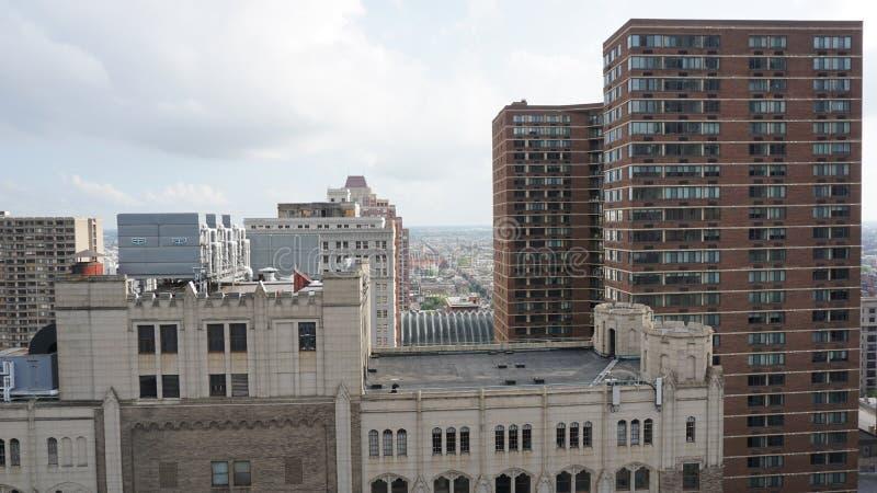 费城鸟瞰图 免版税库存照片