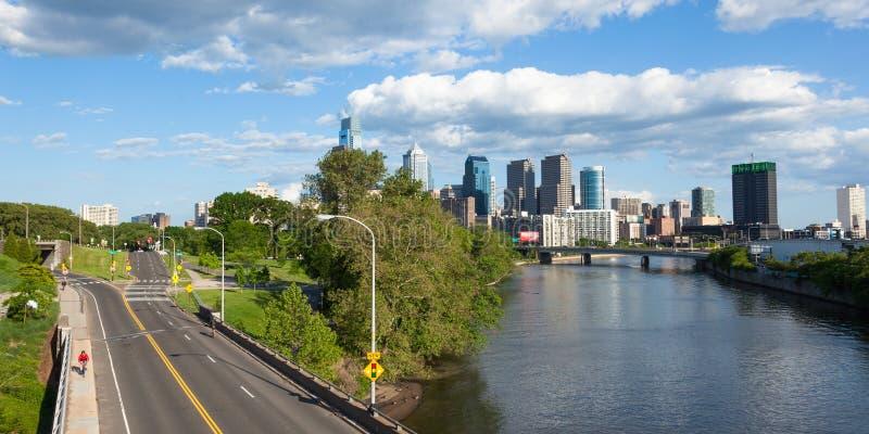 费城,宾夕法尼亚全景地平线视图  免版税库存图片
