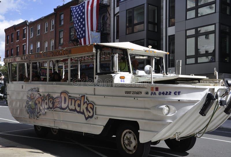 费城, 8月4日:从费城的老镇游览车在宾夕法尼亚 库存照片