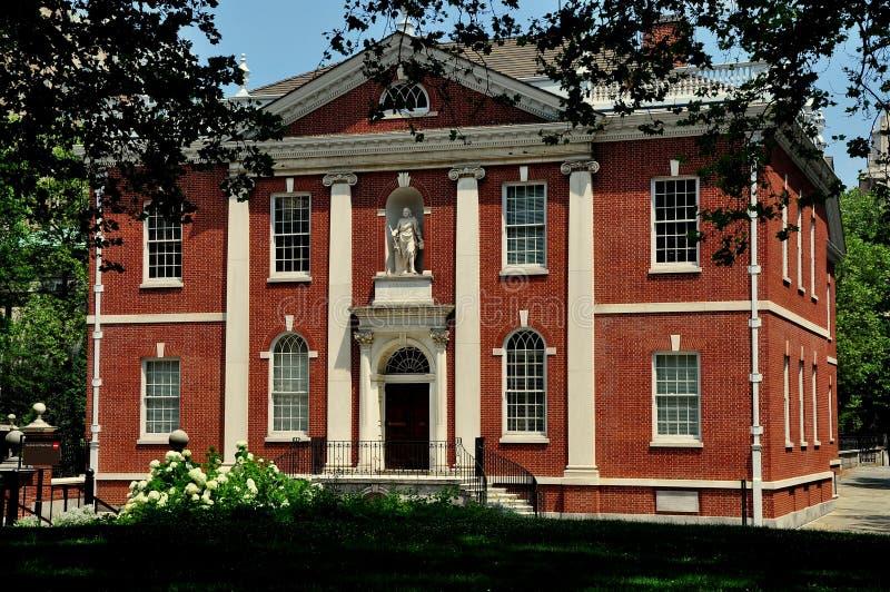 费城, PA :富兰克林学院大厦 免版税库存照片