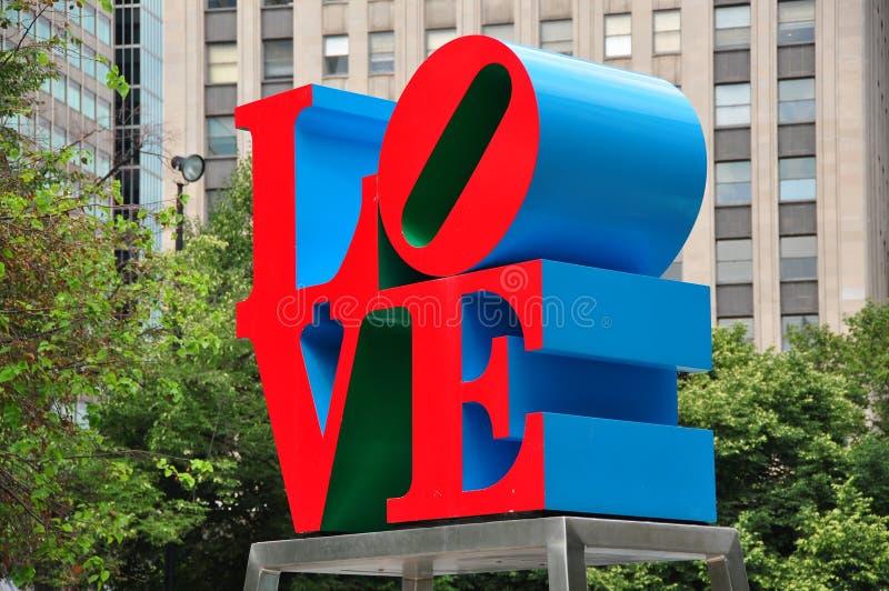 费城, PA :爱雕塑 免版税库存照片
