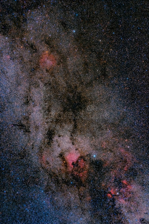域乳状星云星形方式 图库摄影