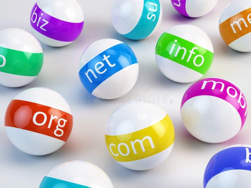 域名-互联网概念 皇族释放例证