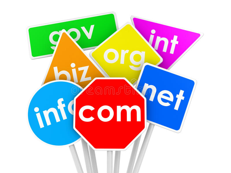 域名 向量例证