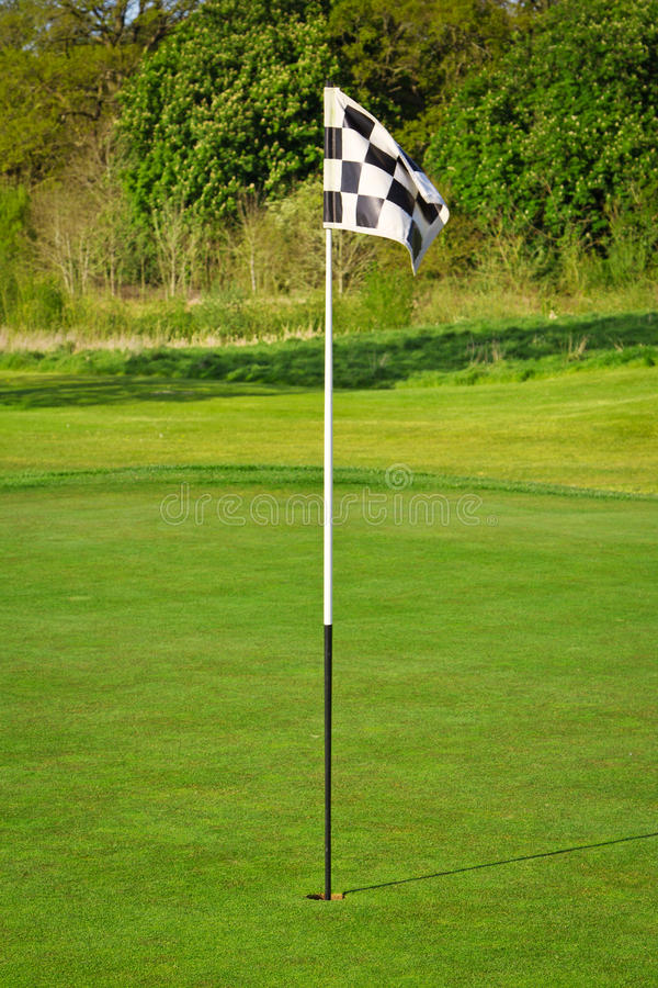 域标志高尔夫球 库存照片