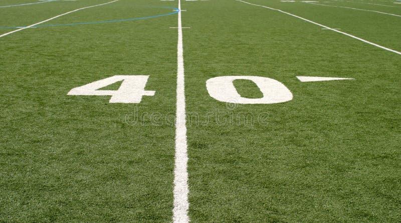 域橄榄球四十 免版税库存照片
