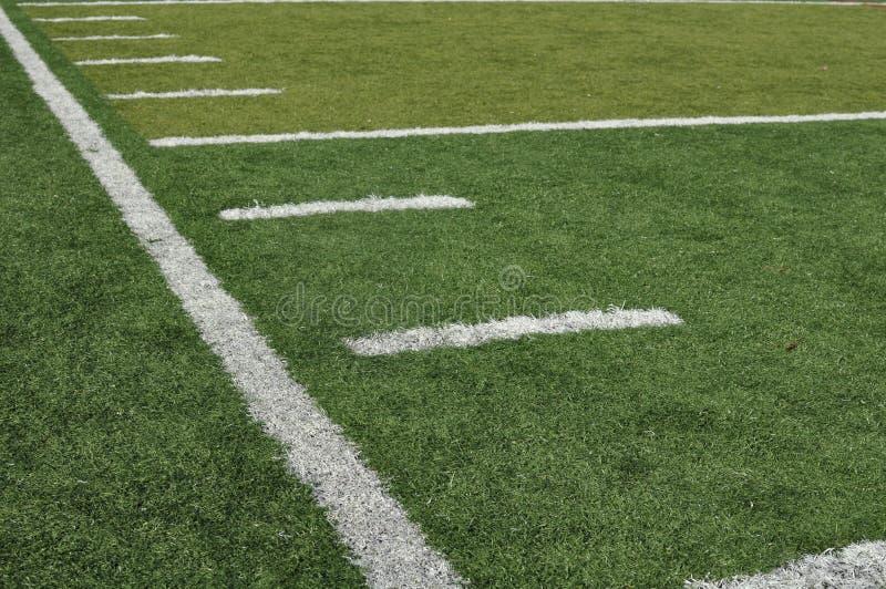 域橄榄球线路边 库存图片