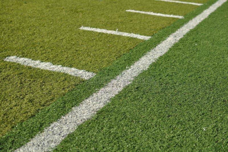 域橄榄球线路边 图库摄影