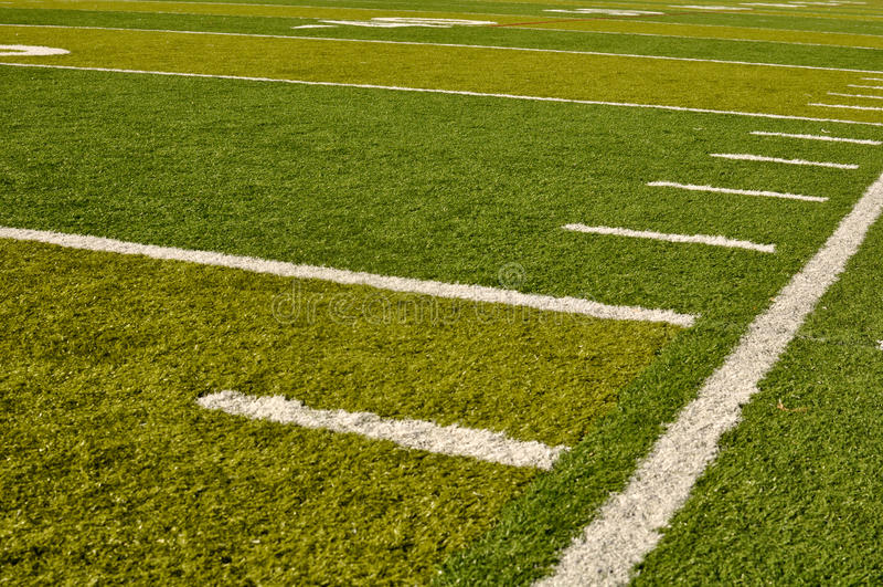 域橄榄球边线 图库摄影