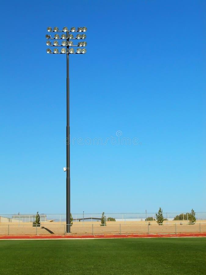 域照明设备体育场跟踪 免版税库存图片