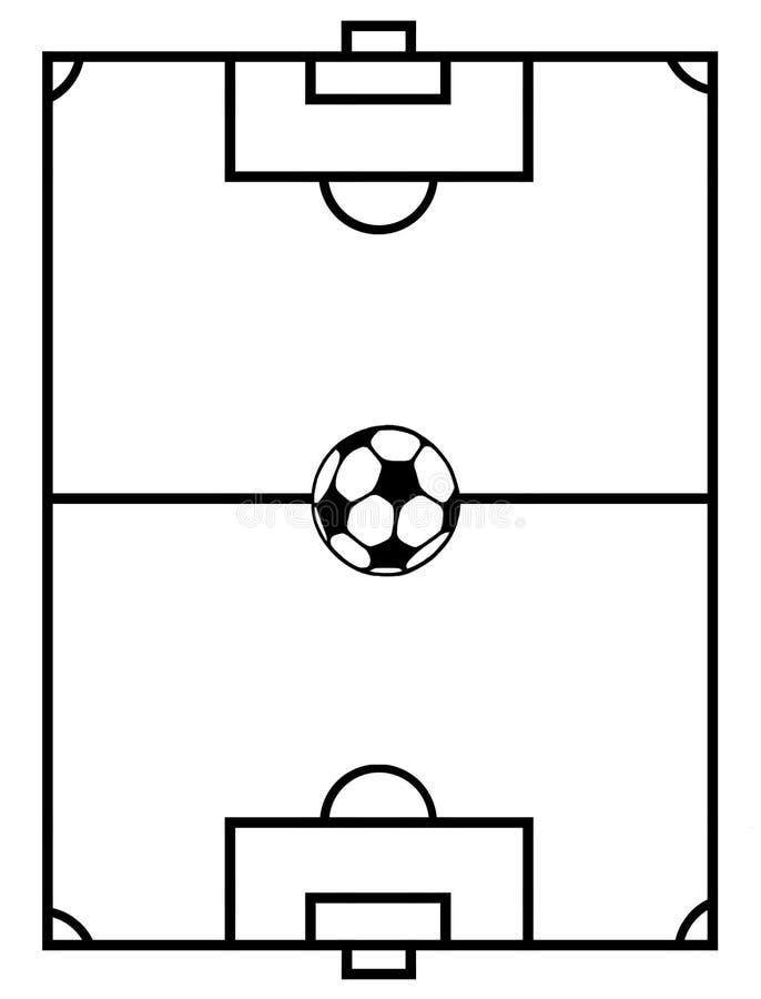 域足球 向量例证