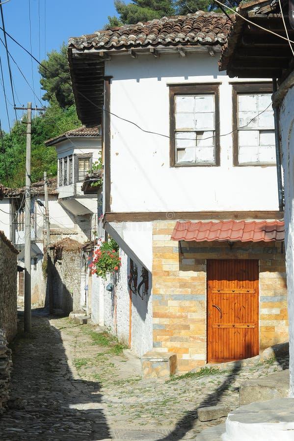 培拉特老房子阿尔巴尼亚的 免版税库存图片