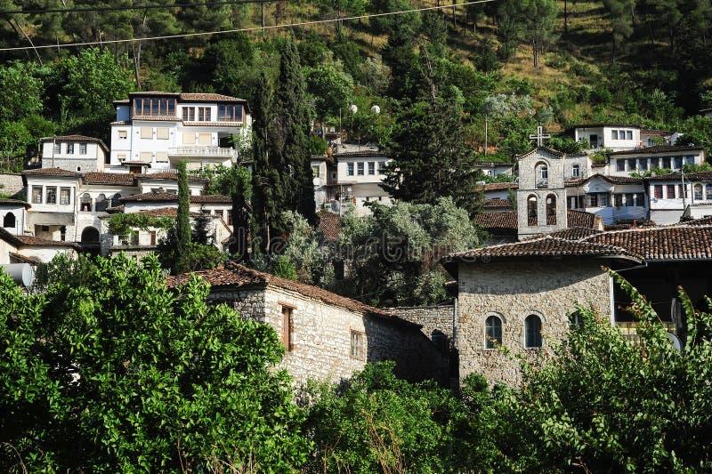 培拉特老房子阿尔巴尼亚的 库存照片