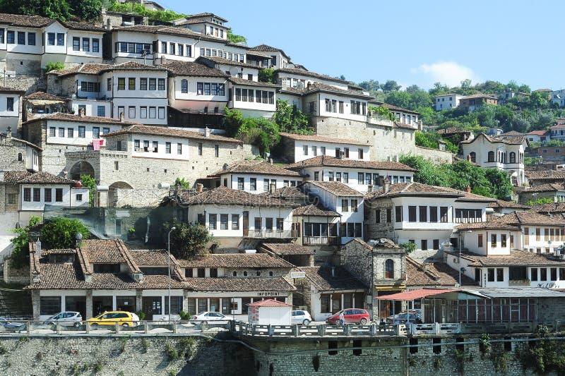 培拉特老房子阿尔巴尼亚的 免版税库存照片